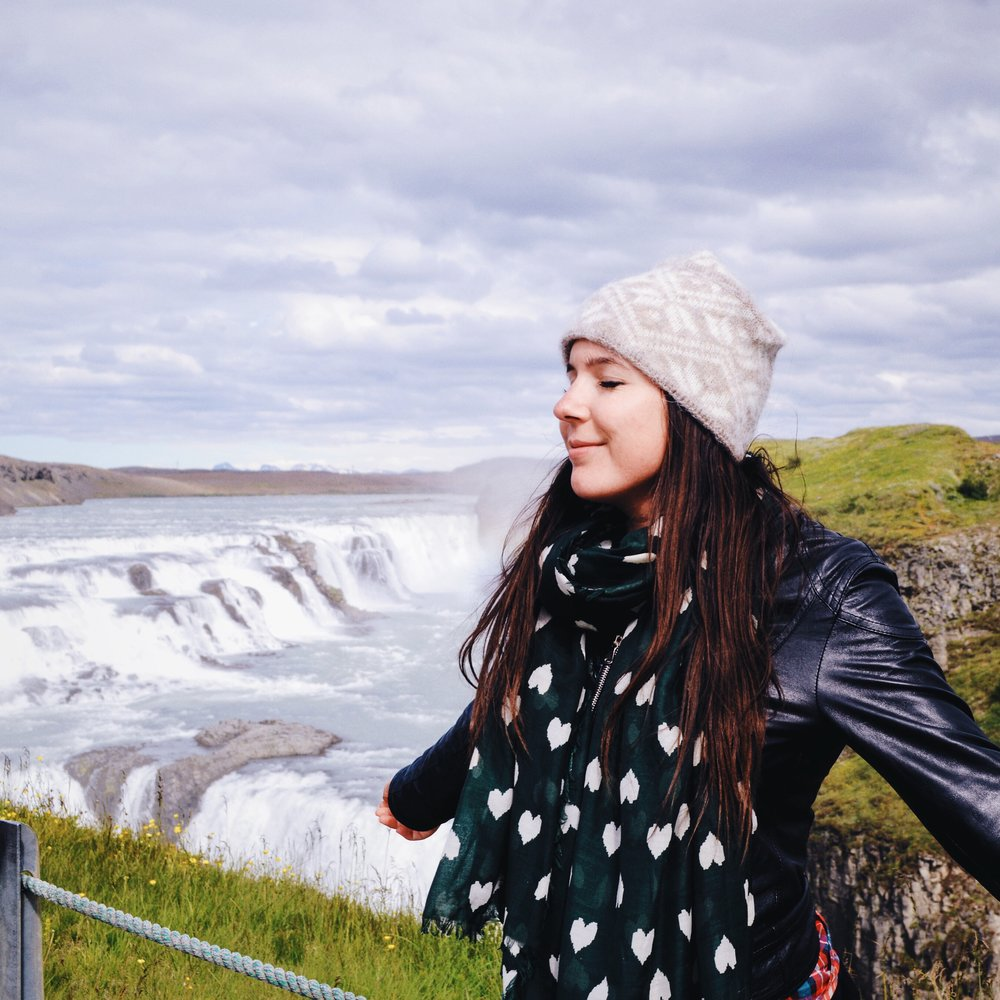 At Gulfoss Waterfall