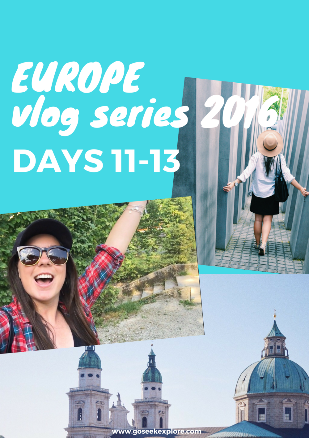This is a fun vlog series about working and traveling in Europe! In this one she visits Prague, Czech Republic and Berlin, Germany...and her job paid for it all!