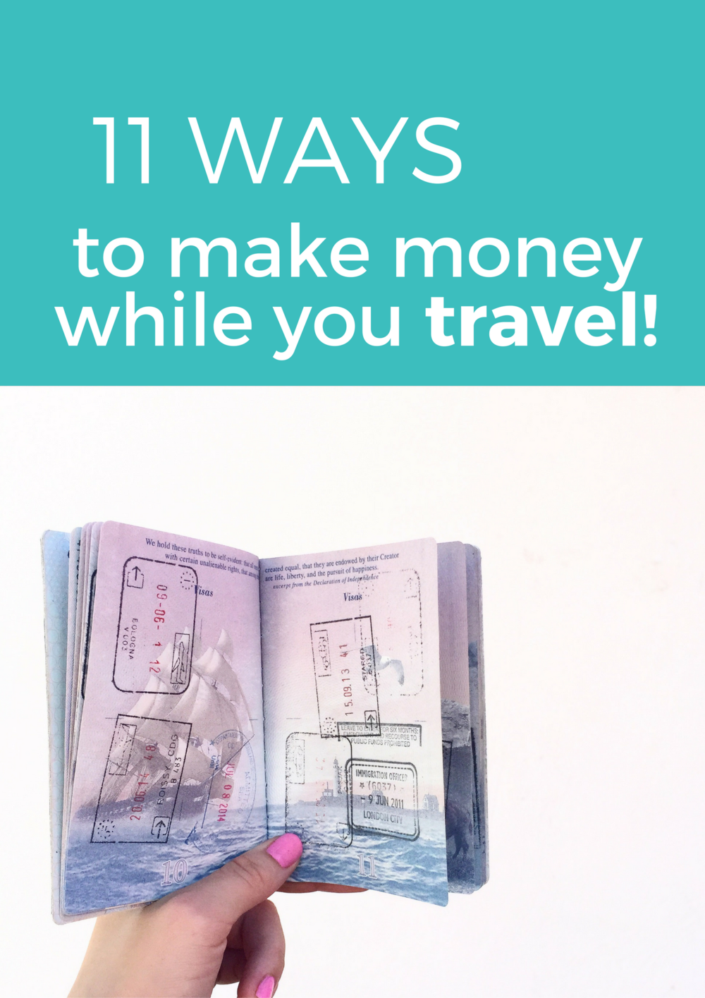 Make money while you travel instead of spending it all on travel! These 11 travel jobs/methods of making money around the world are totally fun, unique, and doable and are great ways to work abroad while you travel. Click through to see the list!