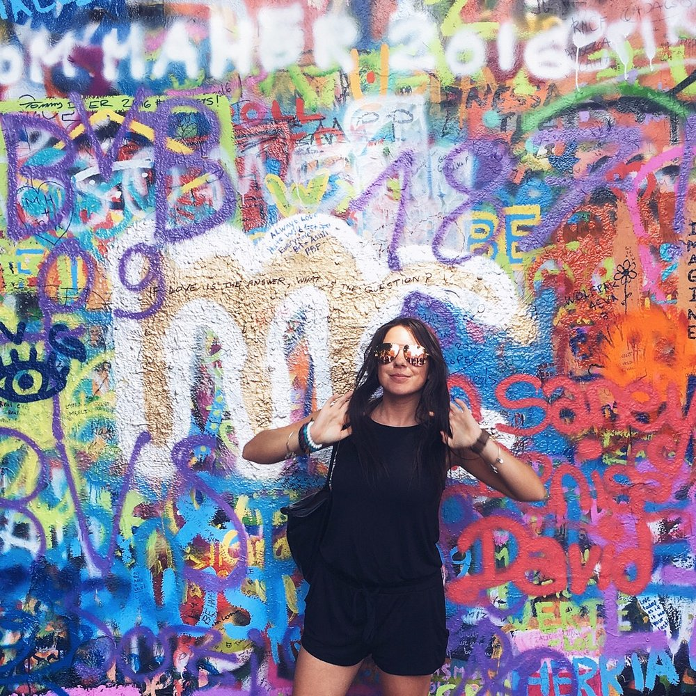 John Lennon Wall in Prague, Czech Republic