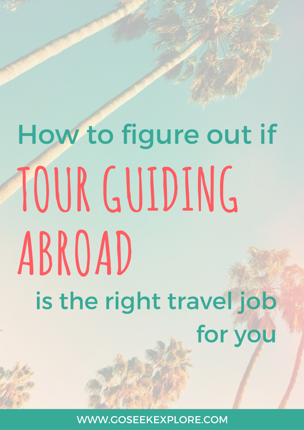 Considering being a tour guide abroad so you can travel for your job? This post goes over what you should expect as an international tour guide and some pros and cons to see if this job could be the right fit for you!