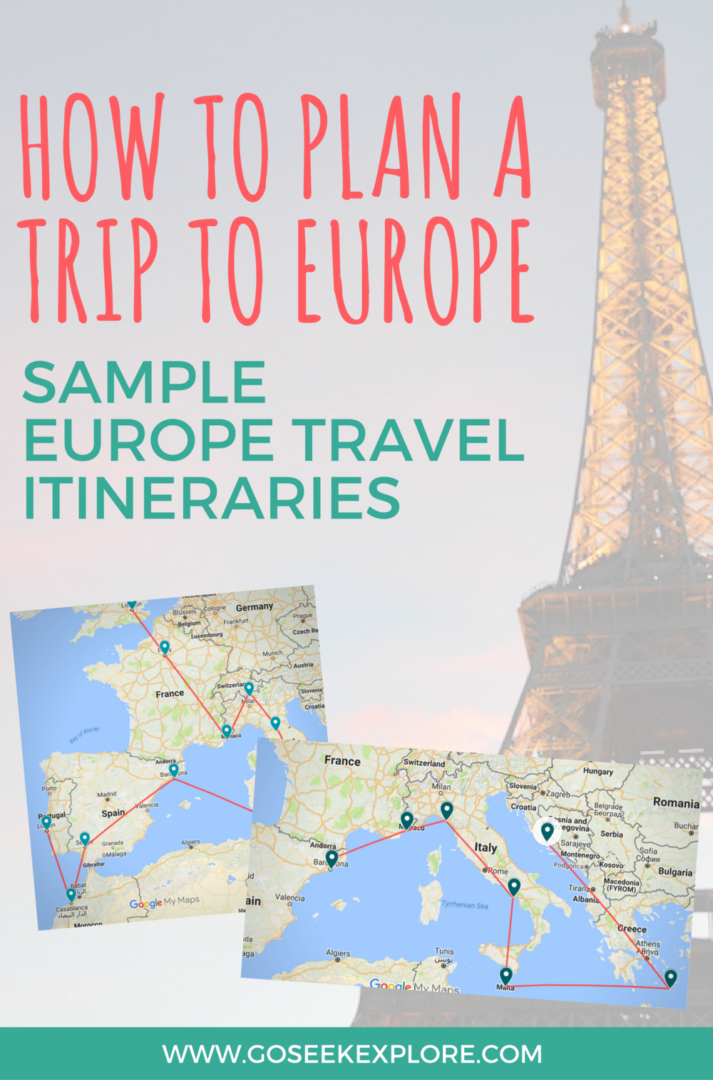 How to plan a trip to europe sample travel itineraries for European plan