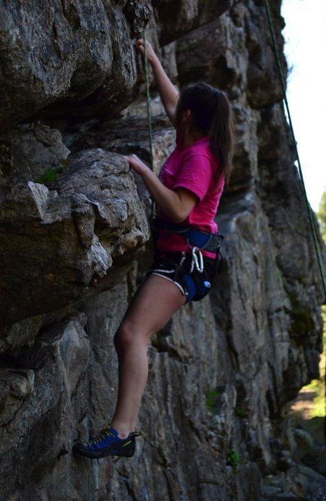 Rock climbing in WA state