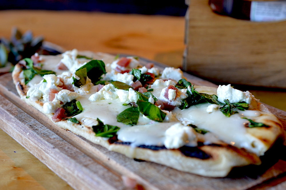 One of the best brunch spots in Pacific Beach, San Diego! Crushed-Pacific-Beach-Flatbread-Pizza