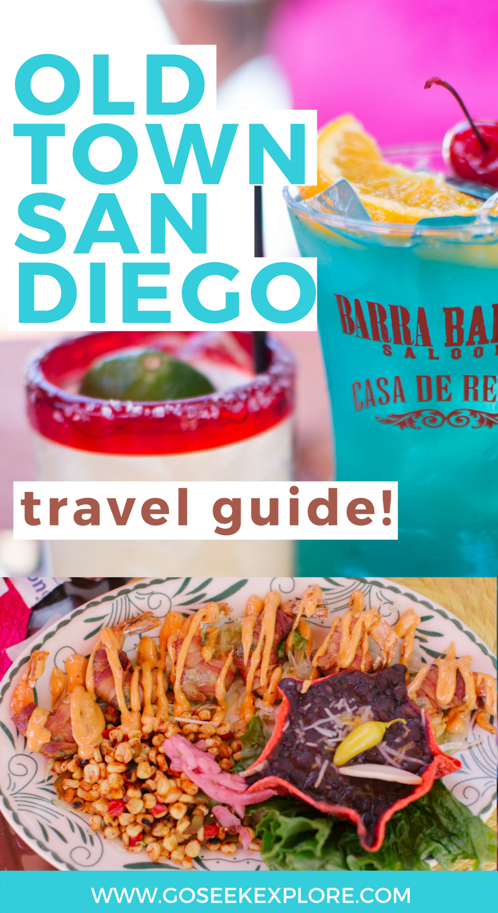 "Old Town San Diego Travel Guide! Awesome and fun places to check out when you visit the Old Town neighborhood in San Diego, California. Old Town is the ""historic heart"" of San Diego and has a Mexican flair! You'll love checking out these places & eating delicious food when you visit Old Town!"