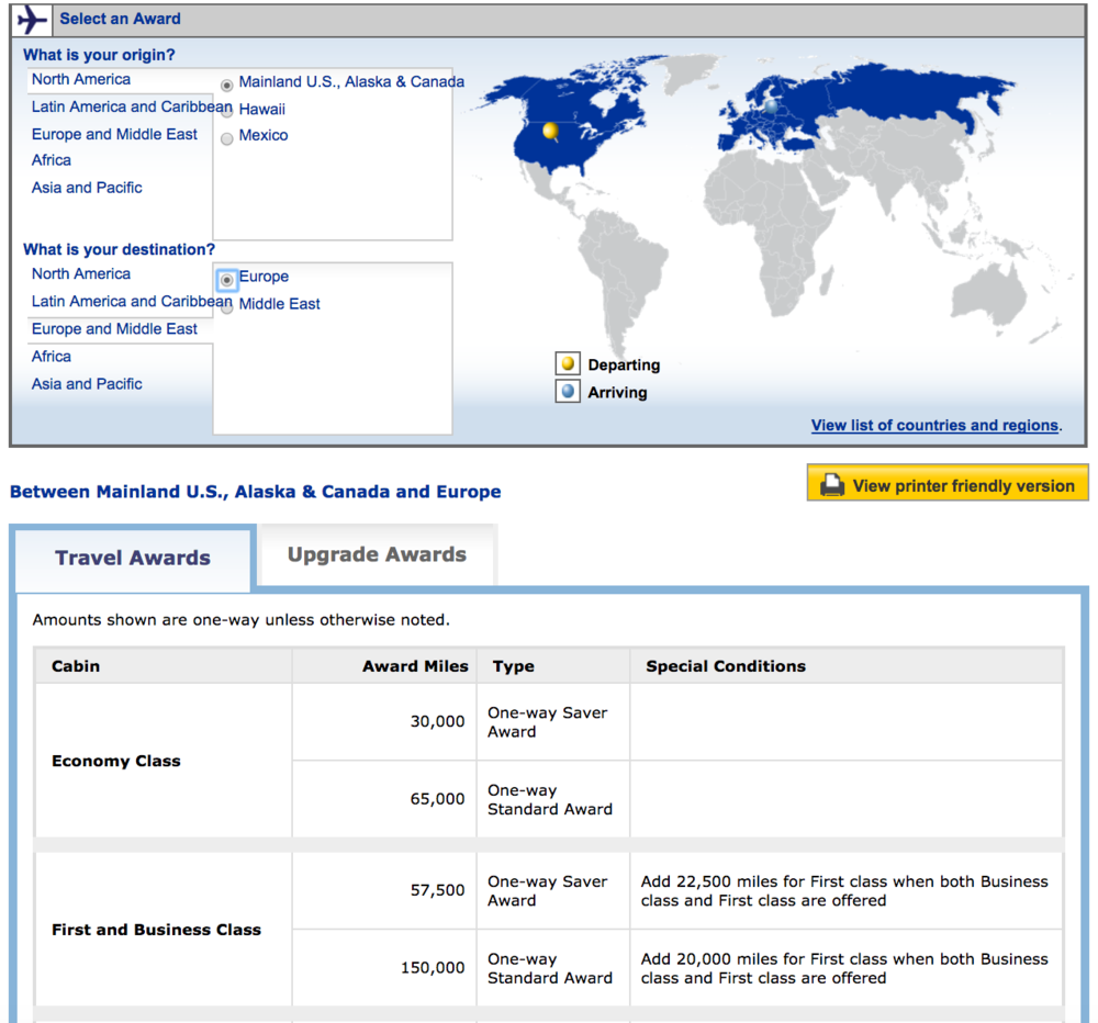 Travel-hacking-United-award-travel-chart