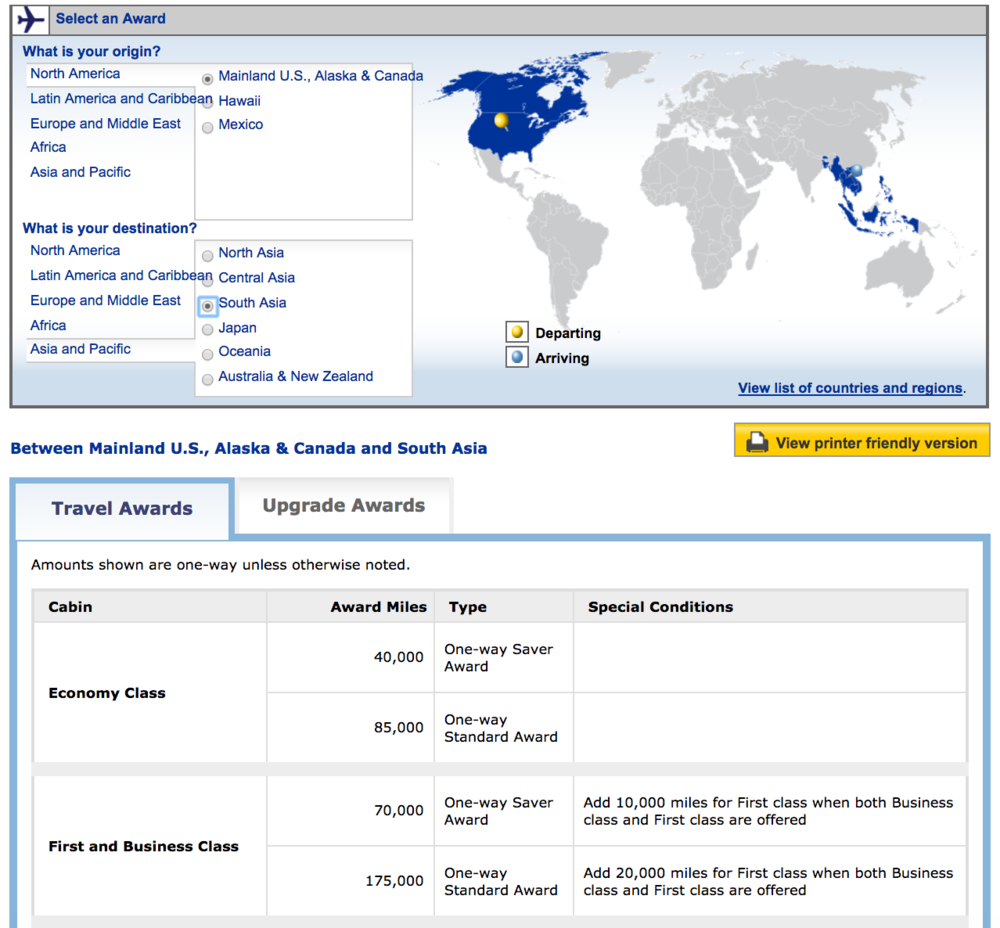 united-airlines-travel-award-points-chart