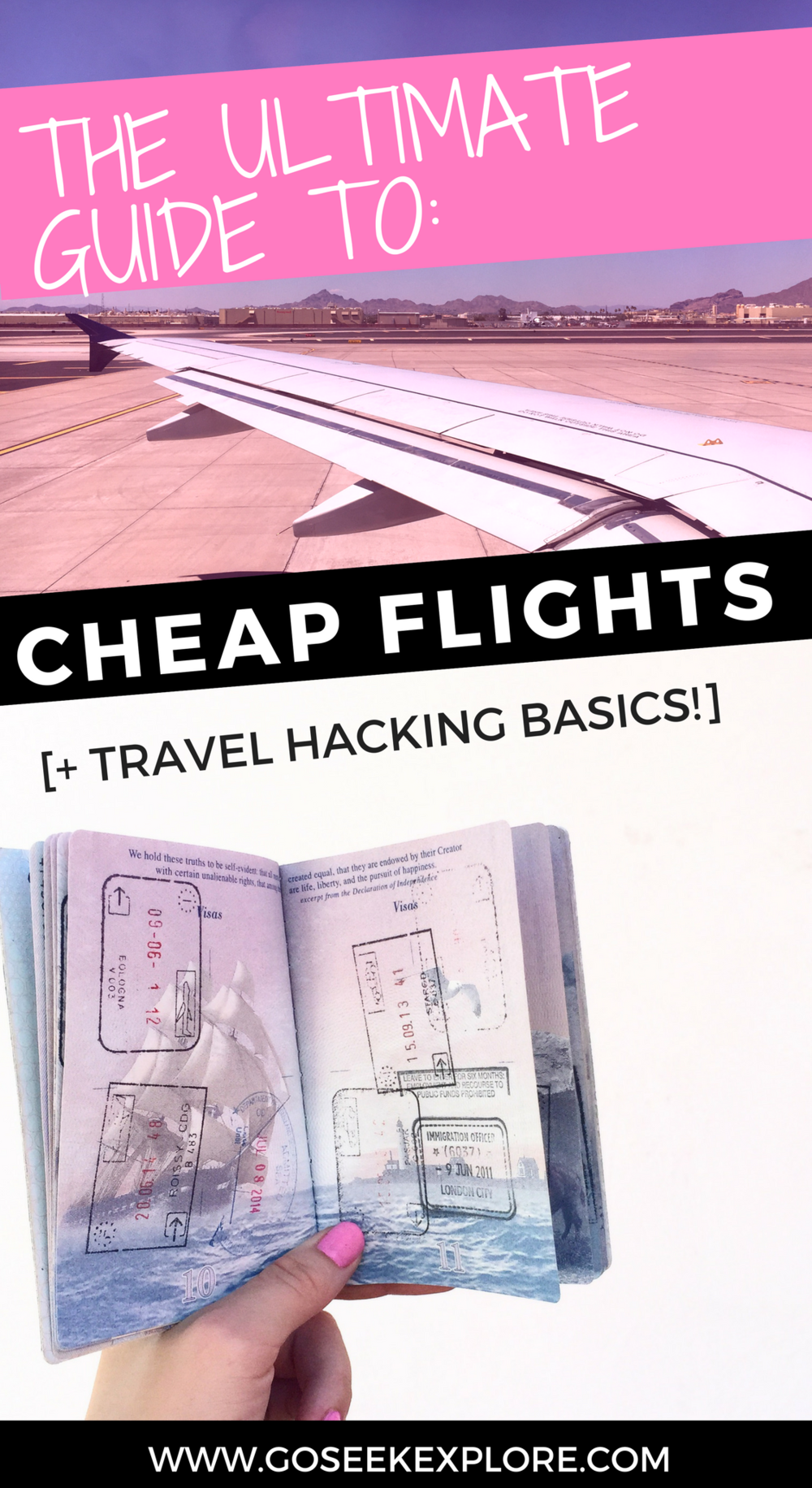The Ultimate Guide to Cheap Flights and Travel Hacking Basics! The best online resources for finding incredible flight deals, plus the basics of travel hacking so you can earn free or super cheap flights. | GO SEEK EXPLORE | ultimate-guide-cheap-flights-travel-hacking