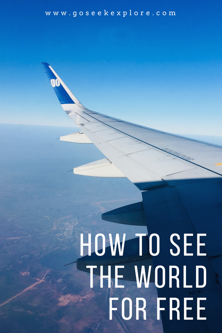 How To Get Free Flights // www.goseekexplore.com