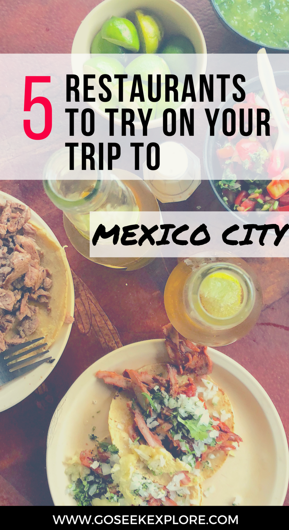 5 Great Restaurants To Try on Your Trip to Mexico City / Go Seek Explore / goseekexplore.com / Ally Archer / 5-restaurants-mexico-city