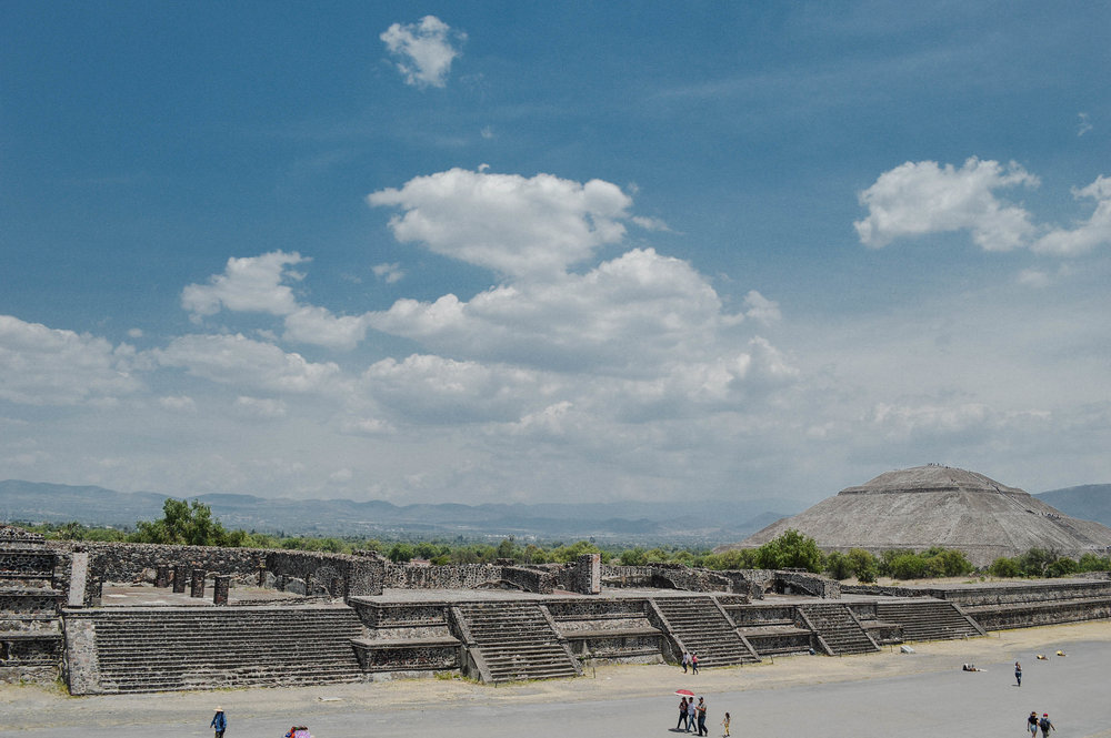 Teotihuacan Pyramids - one hour north of Mexico City. Did you know you could take some really cool day trips from Mexico City?
