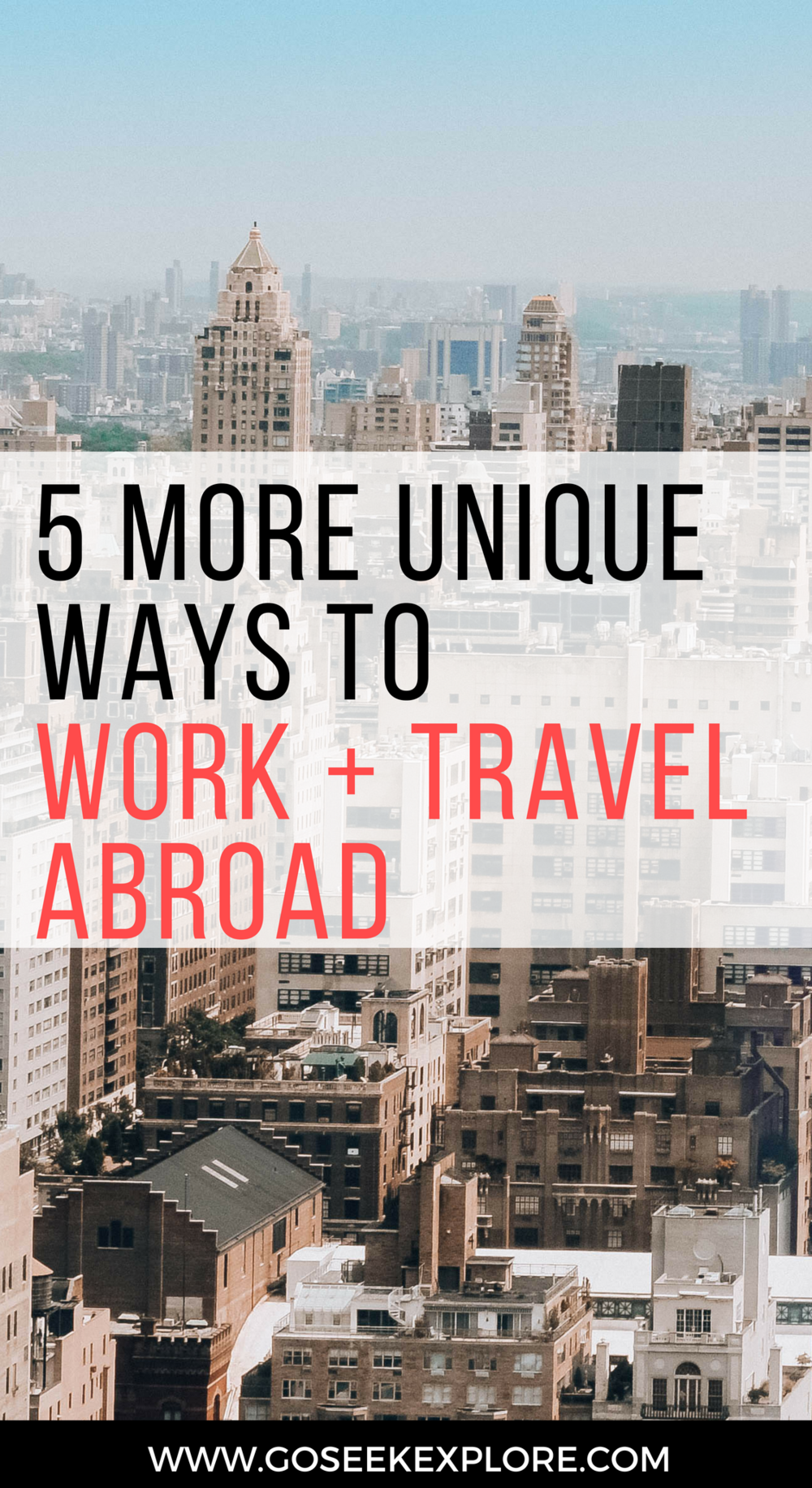 5 More Unique Ways to Work + Travel Abroad - travel jobs and opportunities you probably haven't thought of plus some tips on working abroad! / goseekepxlore.com / 5-ways-travel-work-abroad
