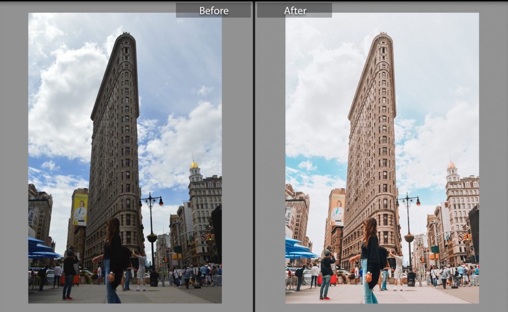 Before/After with Lightroom presets