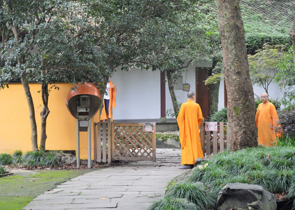 Monks in Hangzhou, China