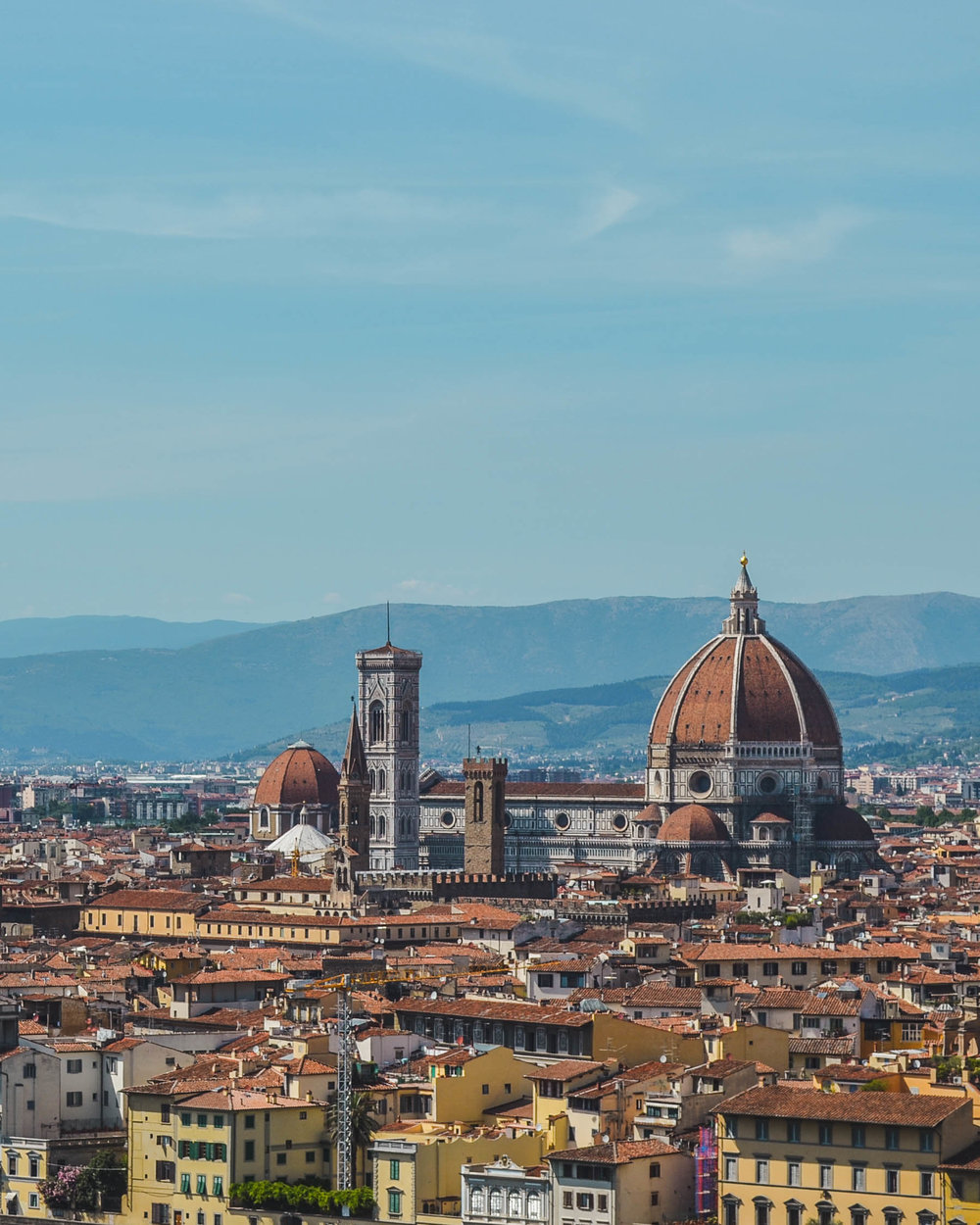 View of the Duomo from Piazzale Michaelangelo in Florence, Italy