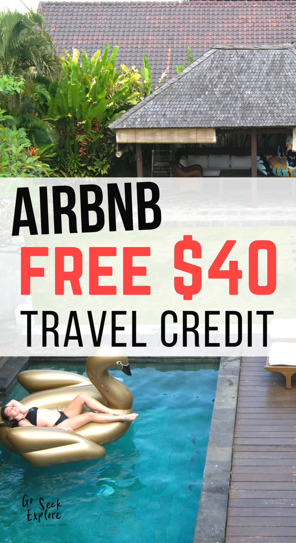 Get a free travel credit worth $40 to Airbnb! (Claim now, book later!) Airbnb is my go-to site for amazing places to stay while traveling. You live like a local and have access to the amenities that you would back home. I've loved finding homes with a fully equipped kitchen, washer/dryer, desk, wifi, & great views. Plus, you often get great tips from a local on what you should ACTUALLY do in their city - after all, they're the experts! Click through & get your free Airbnb discount. Bon voyage! / Bali-Airbnb-free-travel-credit