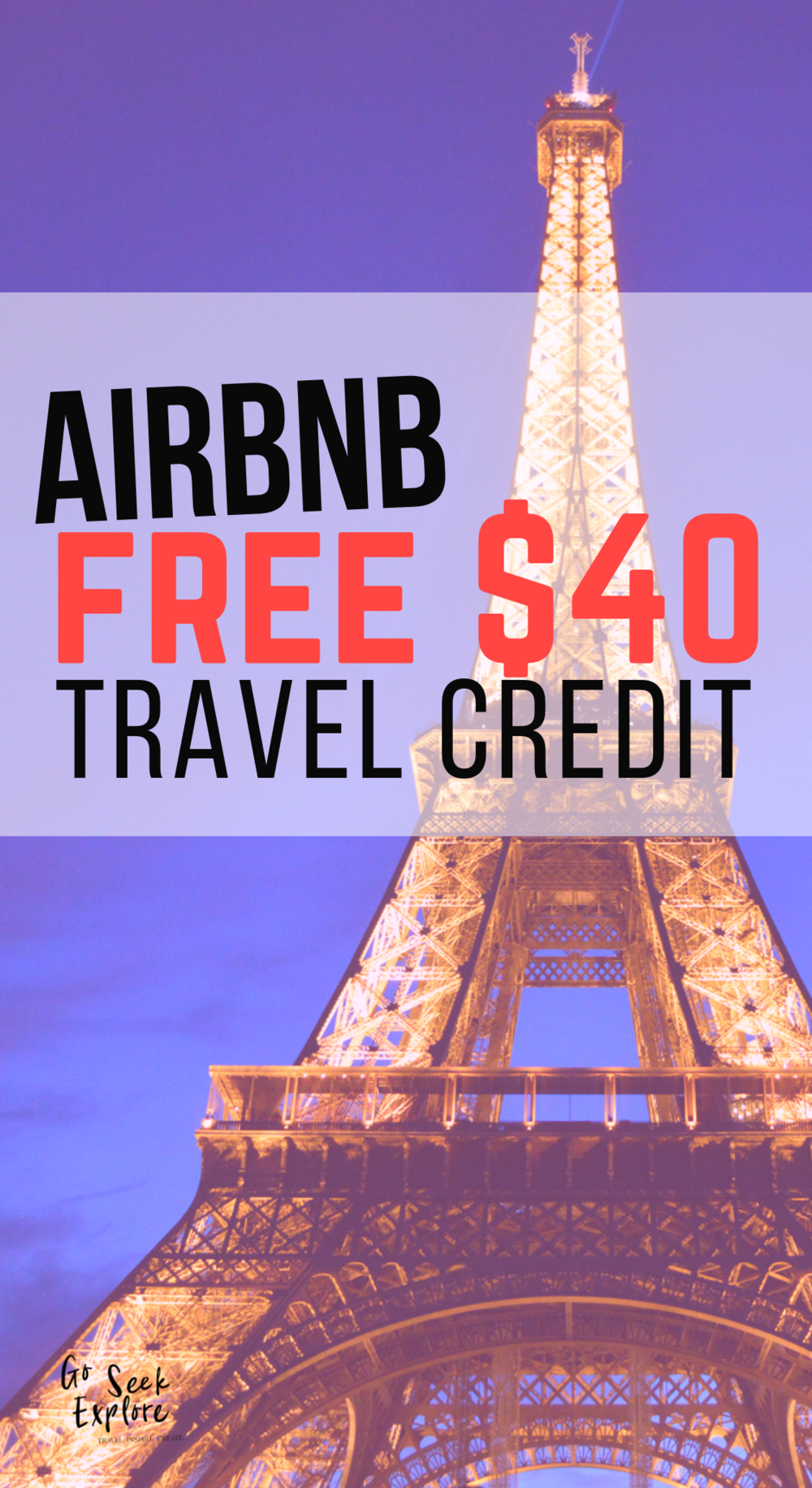 Get a free travel credit worth $40 to Airbnb! (Claim now, book later!) Airbnb is my go-to site for amazing places to stay while traveling. You live like a local and have access to the amenities that you would back home. I've loved finding homes with a fully equipped kitchen, washer/dryer, desk, wifi, & great views. Plus, you often get great tips from a local on what you should ACTUALLY do in their city - after all, they're the experts! Click through & get your free Airbnb discount. Bon voyage! / Paris-Airbnb-free-travel-credit
