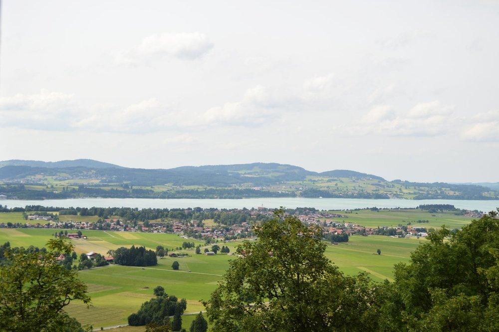 View from the Neuschwanstein Castle in Bavaria region, Germany