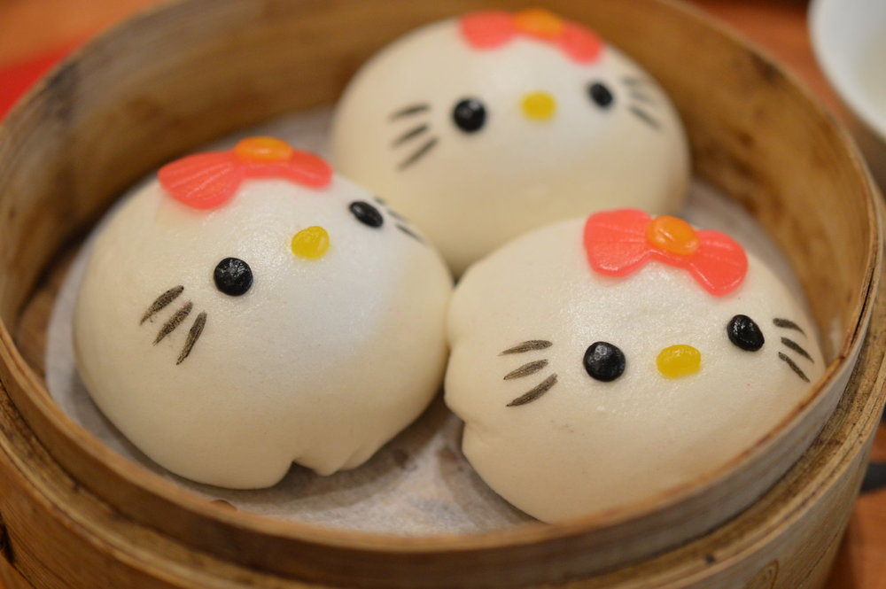 Hello Kitty dumplings from the Hello Kitty Restaurant in Kowloon