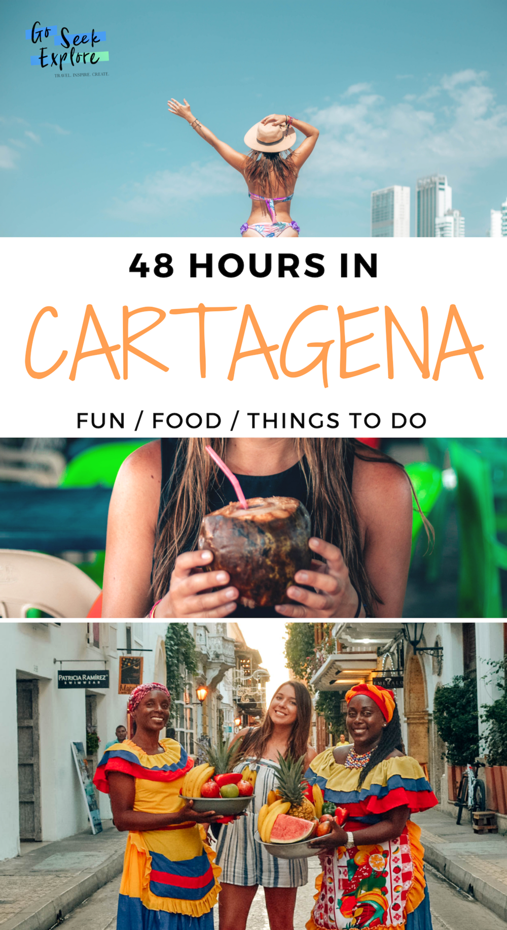 What to do in Cartagena! Things I recommend on your trip to Cartagena, Colombia in South America - where to stay, what to eat, what beaches to visit, and more! / goseekexplore.com