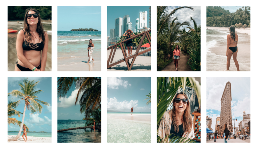 Tropical Dreams Collection lightroom presets / allyarcher