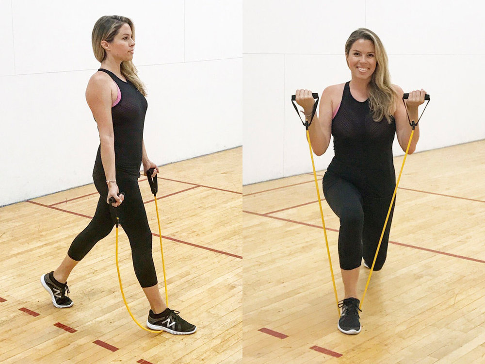Works: biceps, core, hamstrings, glutes + quad muscles