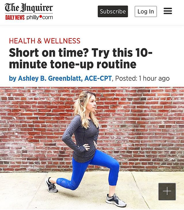 You're busy. 🐝 Between friends, family + work obligations it can seem impossible to fit in fitness . Trim down your body + your workout time with my 10 minute total body circuit - yes that's right - just 10 minutes! Head over to @phillydotcom to learn more. Link in bio . . . #healthylifestyle #fitness #wellness #train #selflove #selfcare #fitspo #exercise #phillydotcom #ashleyblakefit
