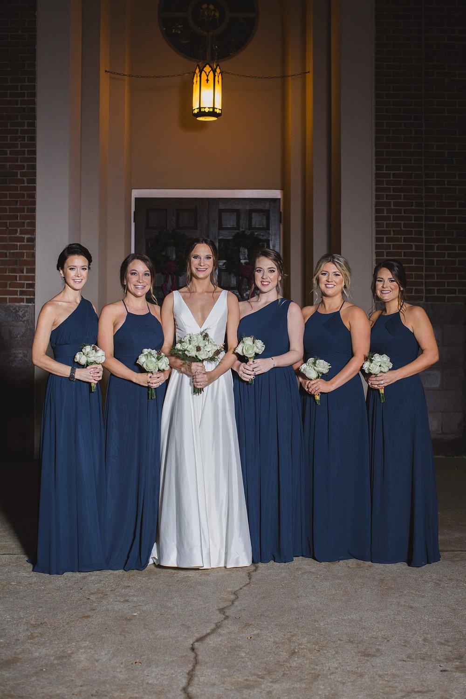 Bridesmaids and bride photos