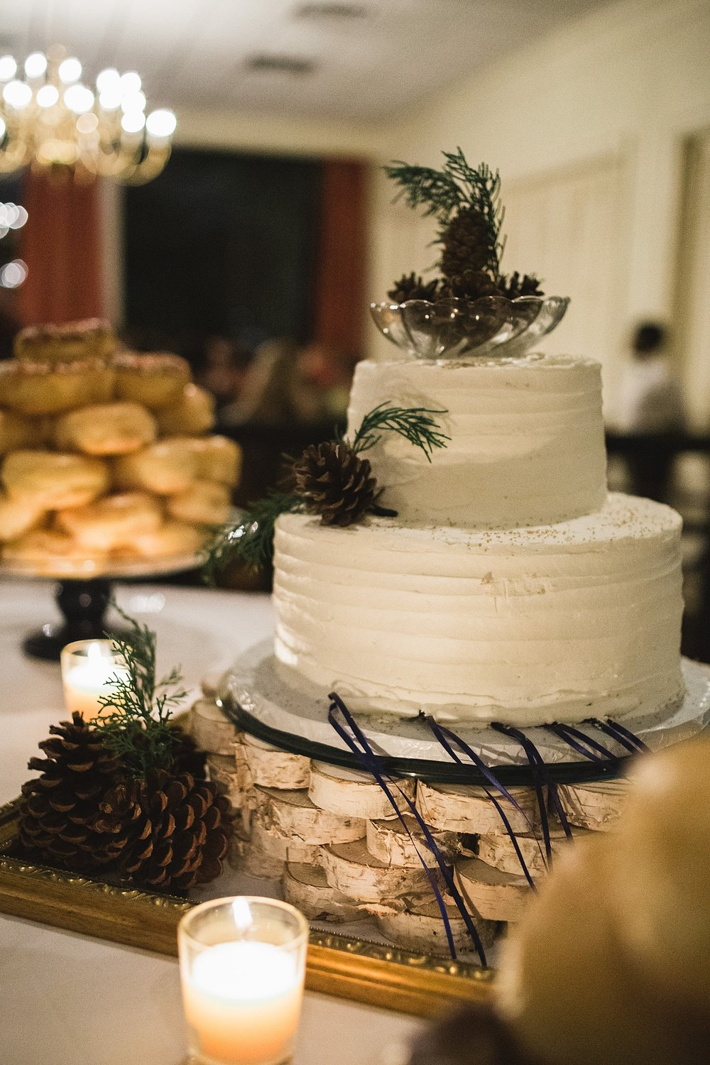 Rustic Winter Wedding Cake picture