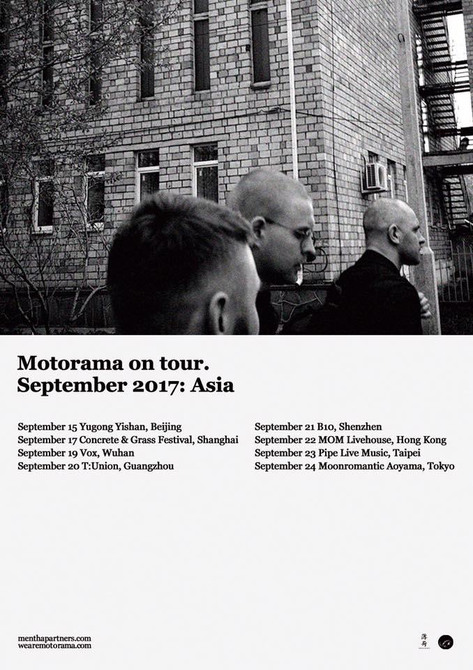 Motorama Asia tour poster, designed by Haedi Haedi