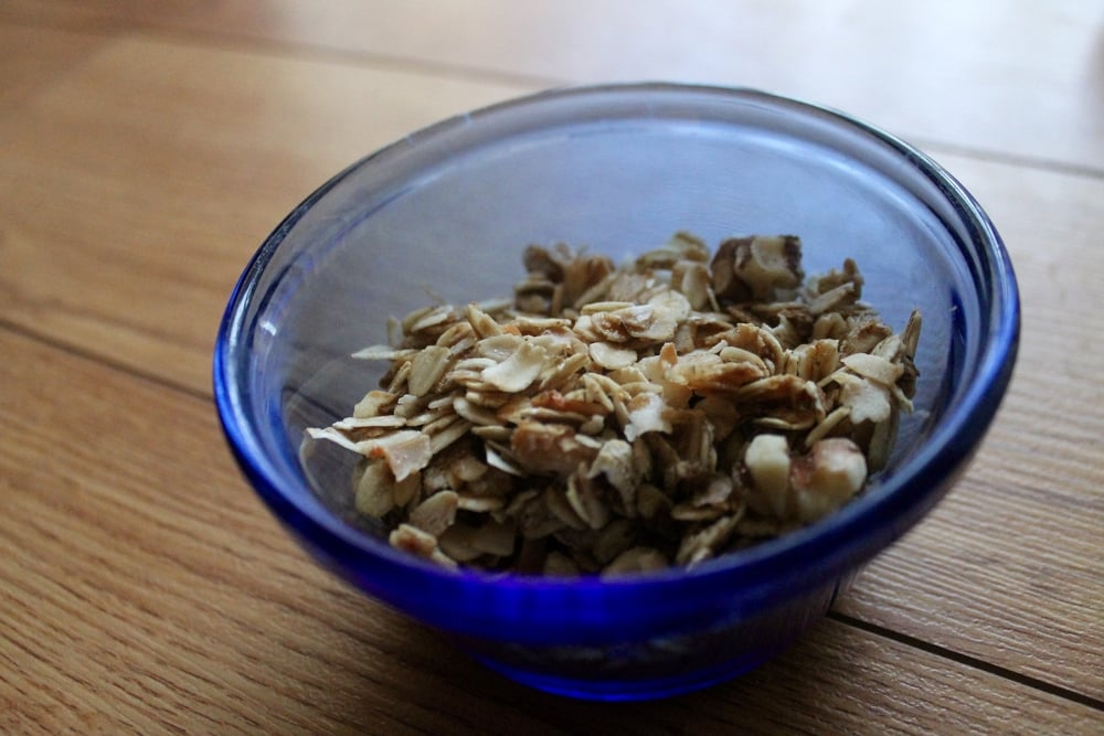 Rise and Shine Granola: We made ours without the dried fruit