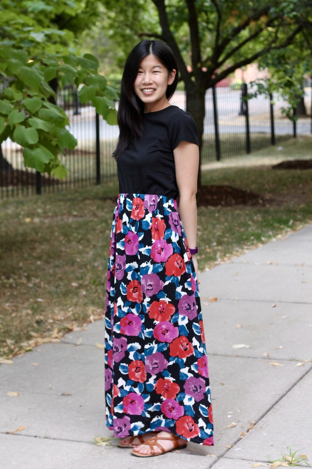 Self drafted maxi skirt