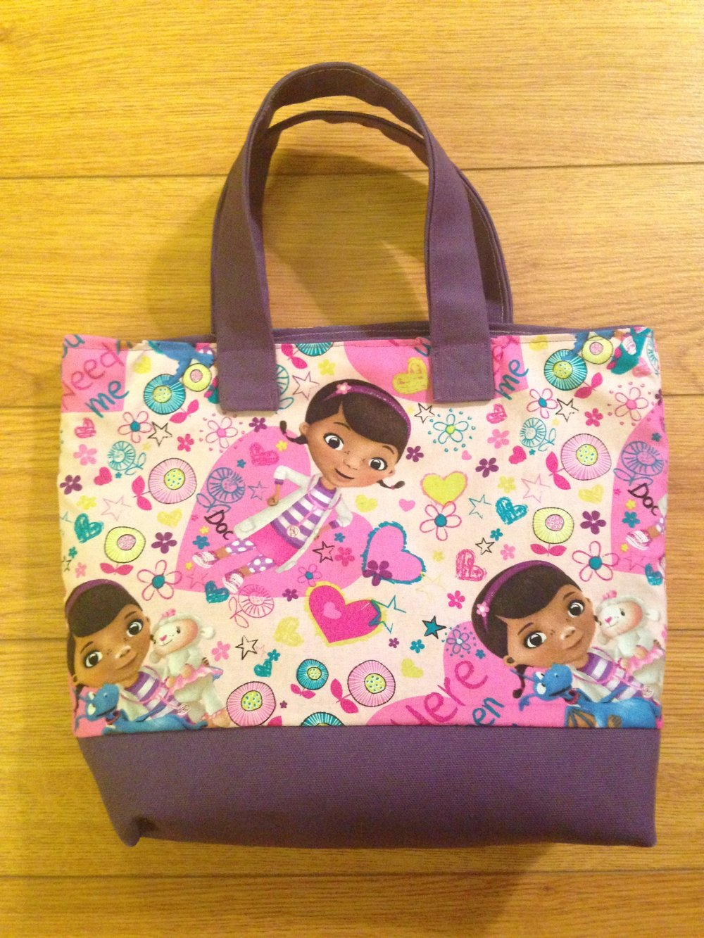 Self drafted Doc McStuffins Tote Bag
