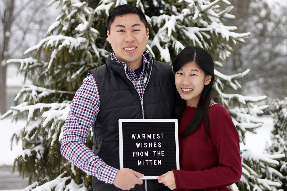 Since our Christmas card has already gone out, we can post this now :) Merry Christmas from the Yosts! (Letterboard is an early Christmas gift c/o Sammy & Marissa).