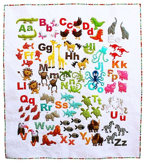 Animal Alphabet Quilt by Don't Look Now