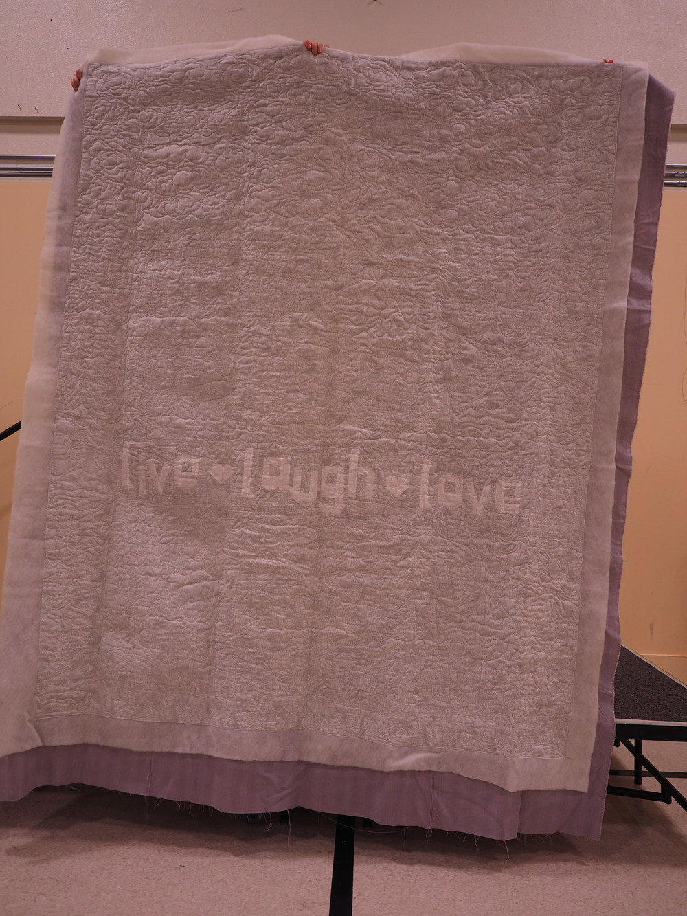 Kristan Collins  Live, Laugh, Love Wedding Quilt  Quilted by Nancy Stovall