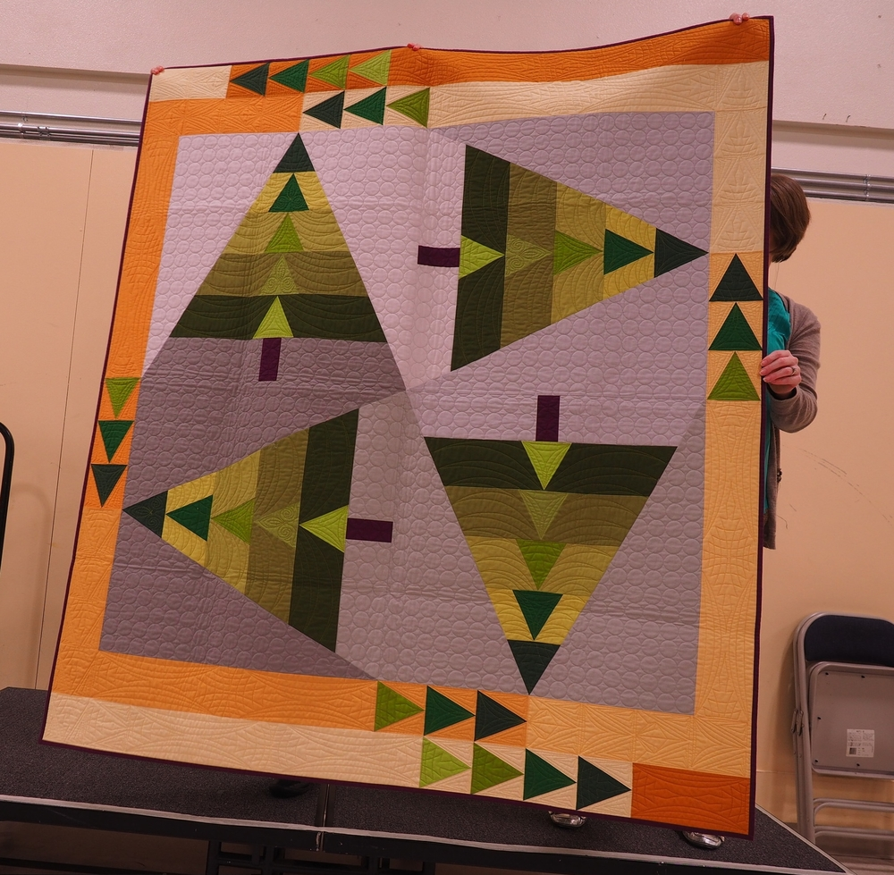 Pam Raby  Sequoia - Pattern by Pam!    @lovedtopieces   Quilted by Nancy Stovall