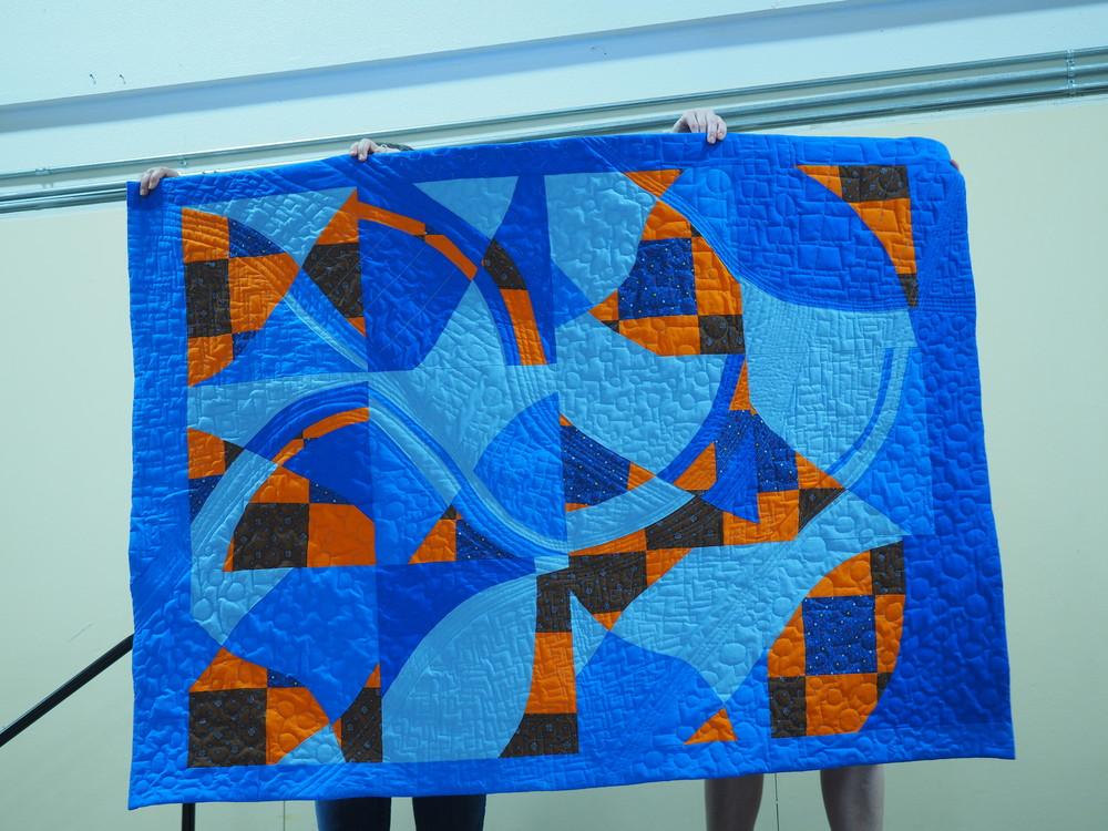 "Claire Alexander  Used Score, ""Layered Curves"" Sherri Lynn Wood, Improv Handbook  knitnkwilt.wordpress.com"