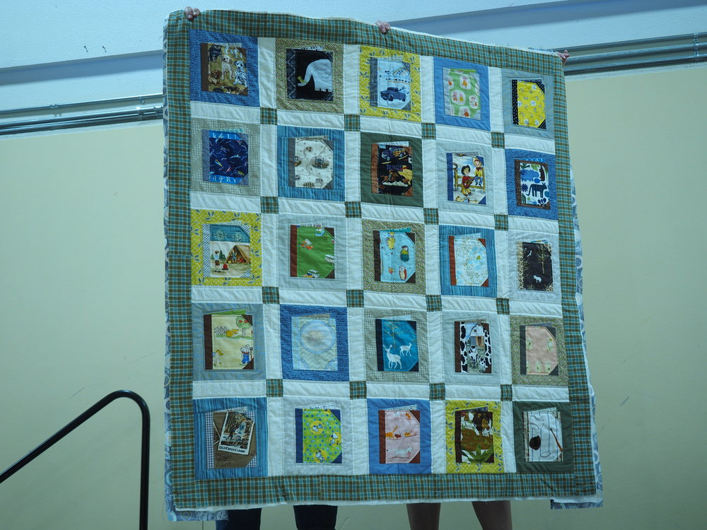 "Lara Giles  Books for Baby Quilts for a boy and a girl, from Ayumi Takahashi's book ""Patchwork Please"".    @sewelanor"