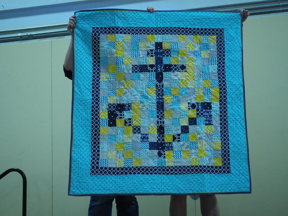 Mary Ann Morsette  Anchor Baby Quilt (her own pattern)   @soapsbymaremare