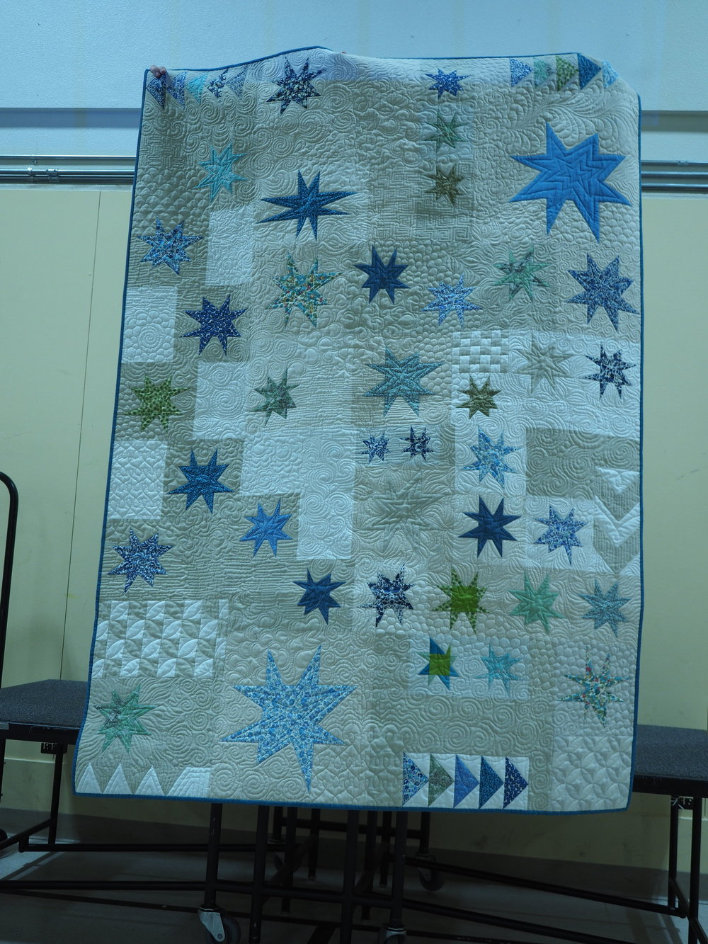 Wonky Star  Designed and pieced by Diana Miller  Quilted by Jolene Knight