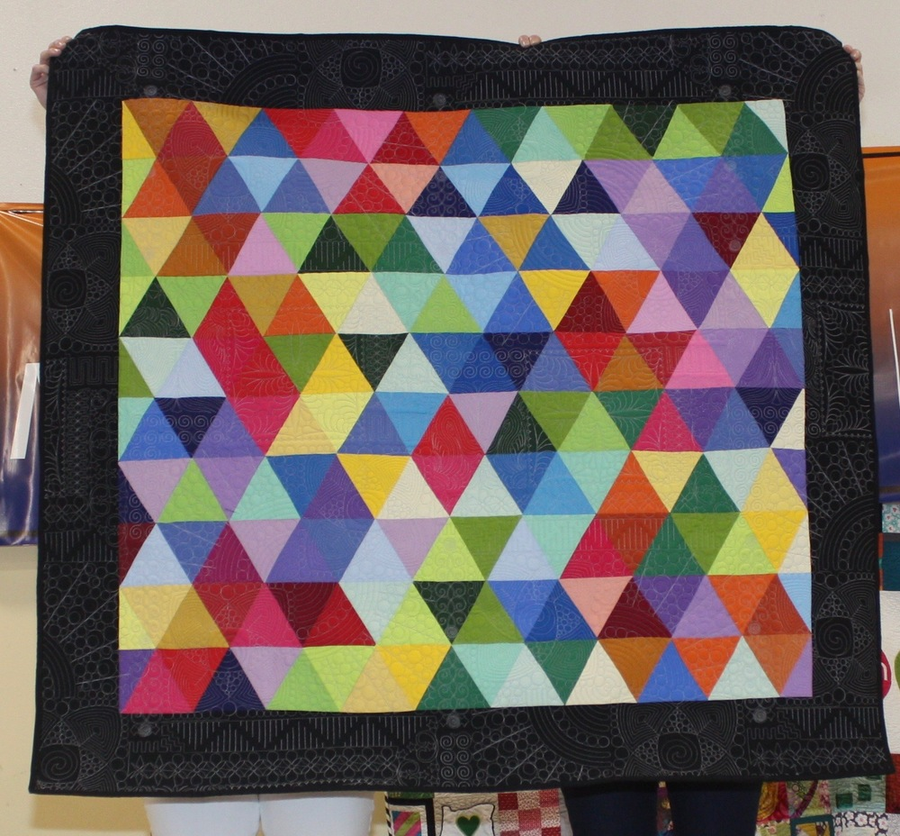Elisa Corcoran  Richards Quilt, her 1st commissioned quilt!
