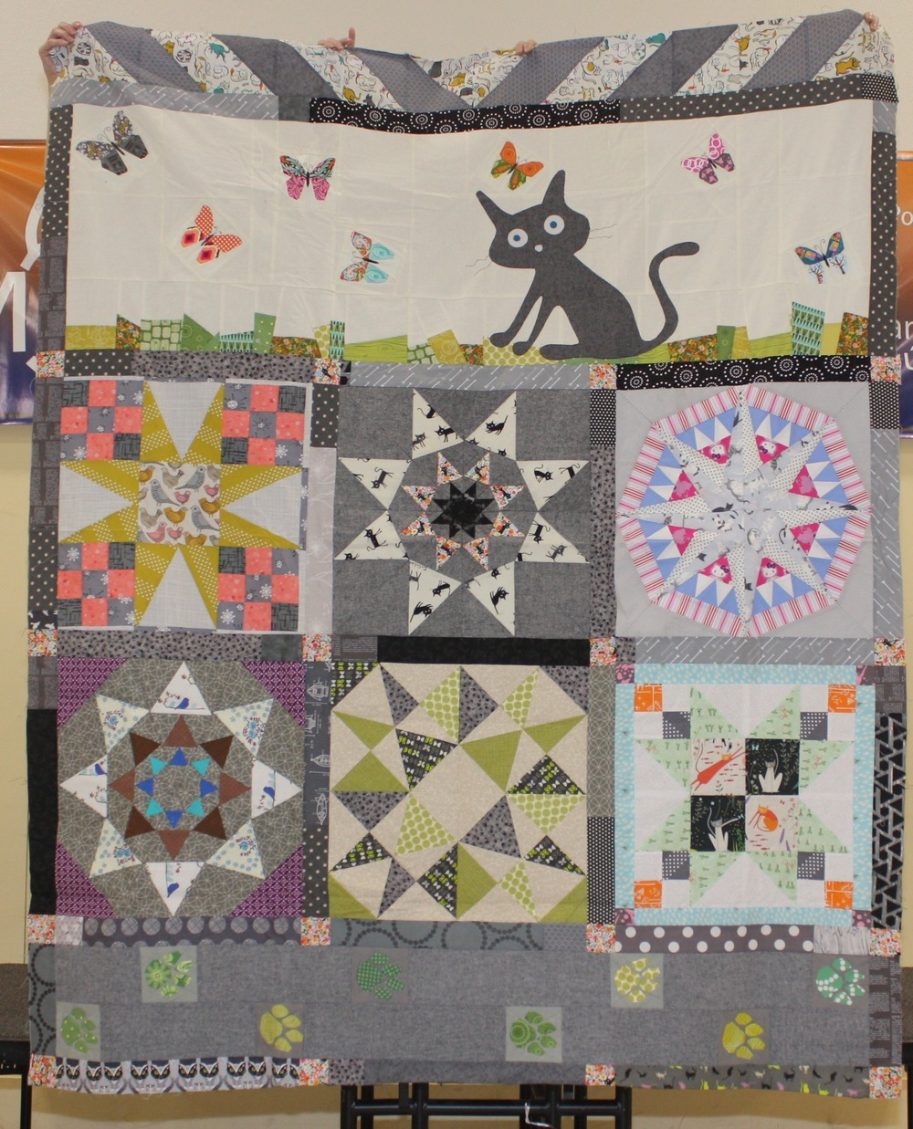 Elsa Hart  Kitty Star, blocks were made by various people from her mini group  @elsabean