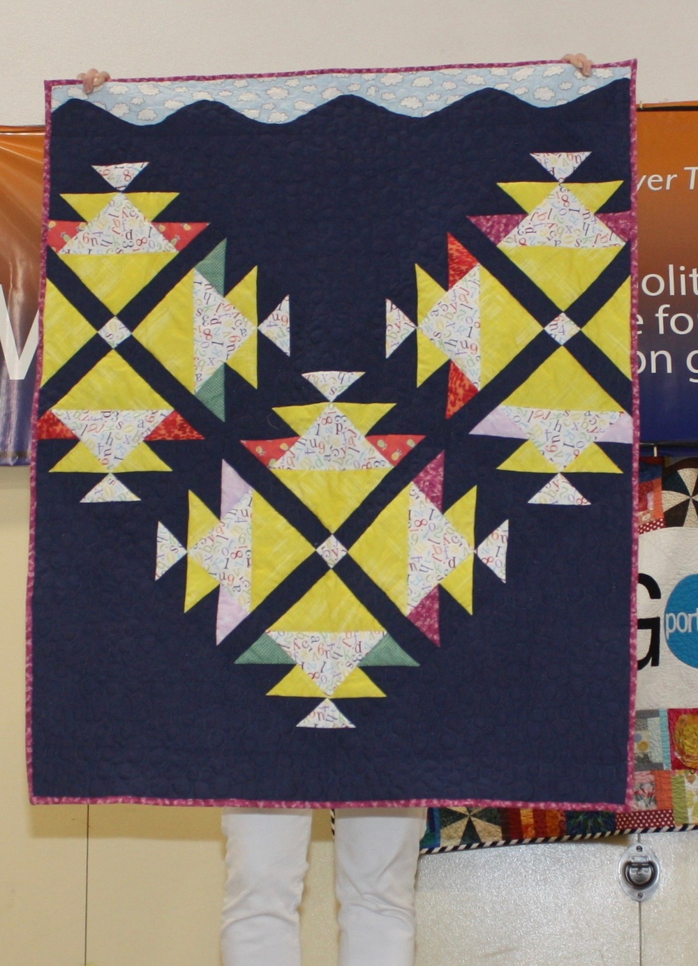 Megan Smith  Fish School  @roricksmith  Pattern from PlayCraft Quilt Design a Day blog