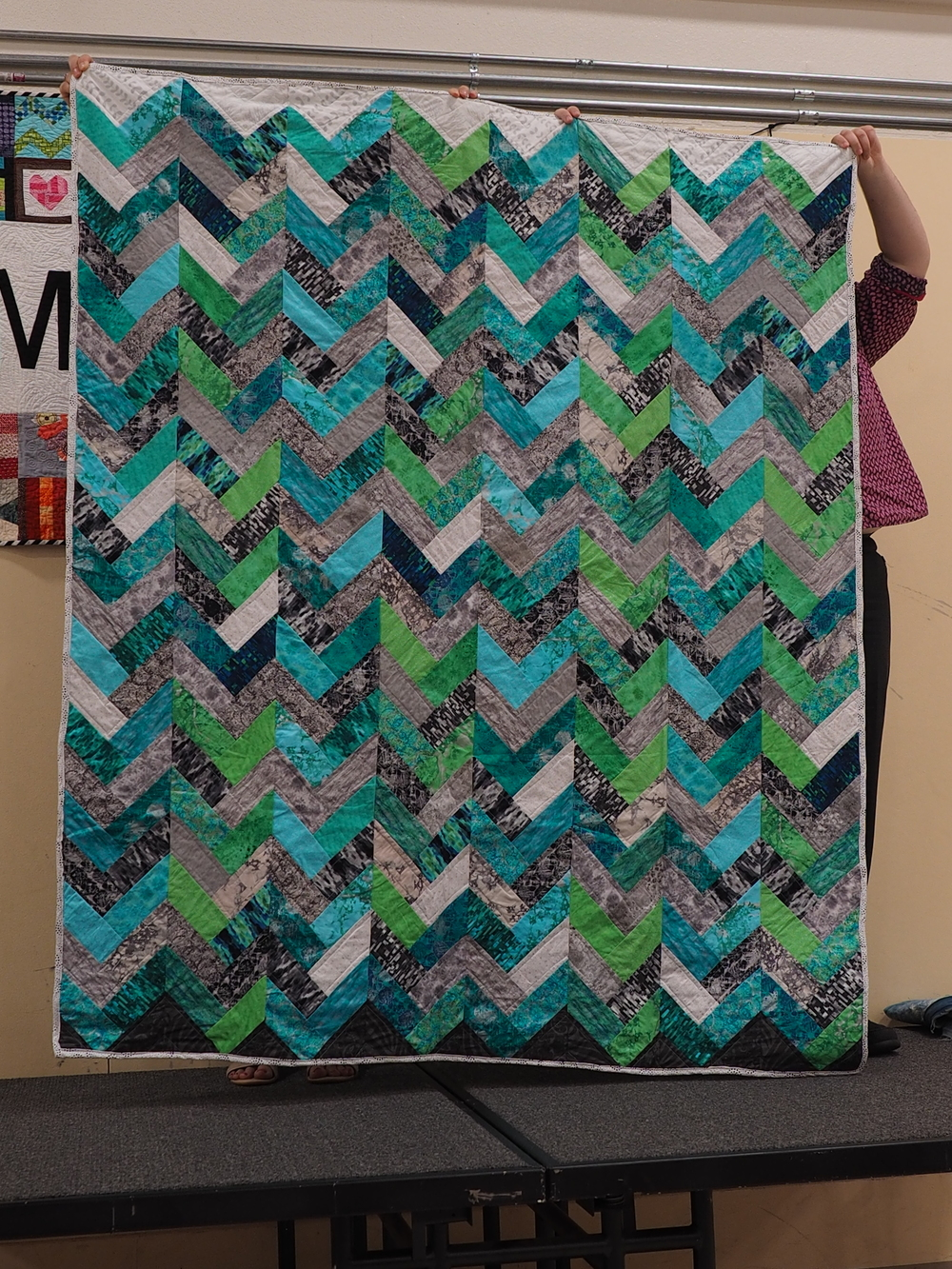 """Sam Richards  Peaks & Valleys  @sam_richards612  Pattern from the book """"Seems like Scrappy"""""""