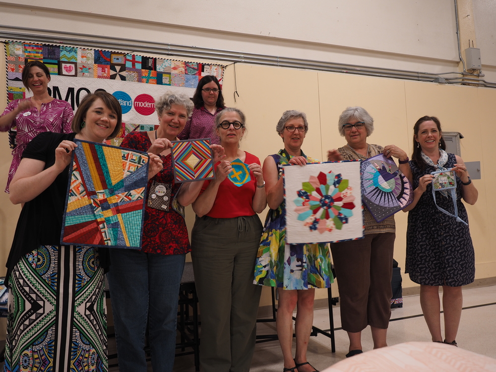 Unbiased Ladies Small Group Secret Swap  Joyce Rector - Bowl  Tina Daily - April Showers Tag  Tam Gardner - God's Eye  Amy Morinville  Marika Zimmberly - New York Beauty  Julie Lund - Improv