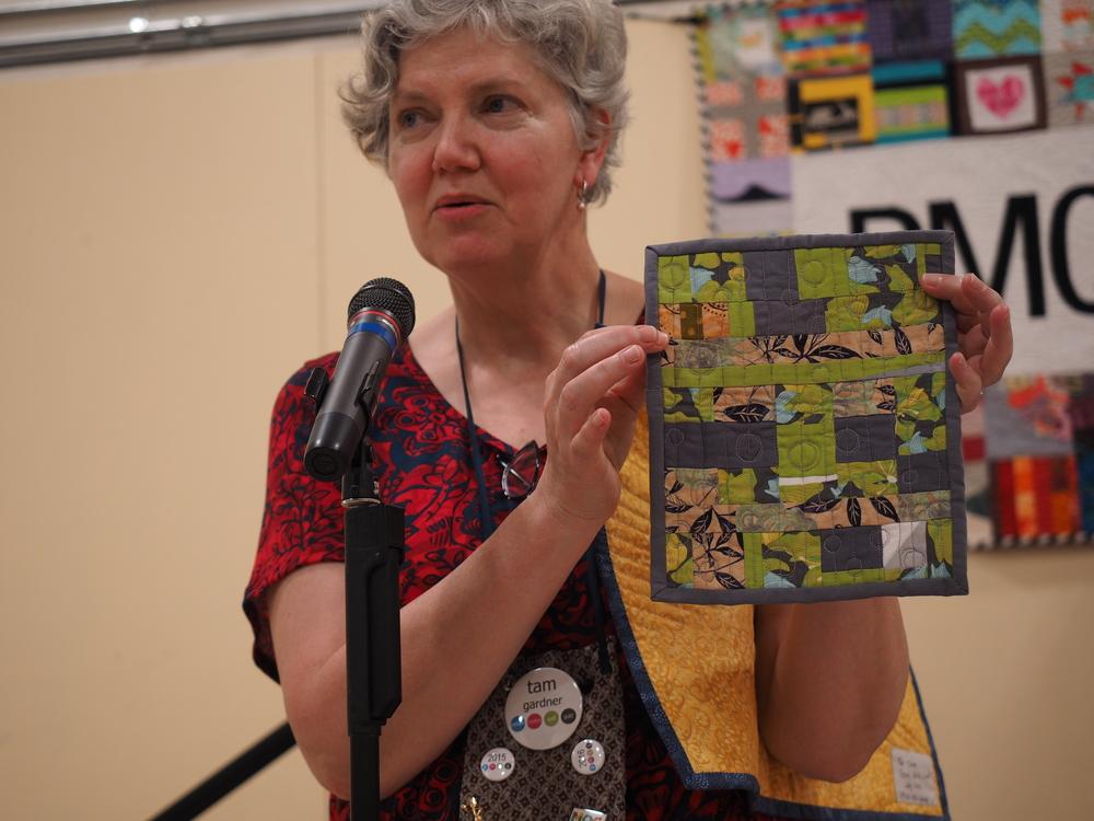 Tam Gardner  Improv Thread Bunny  @quiltcharette  Pattern by Bonnie Hunter Leader & Ender