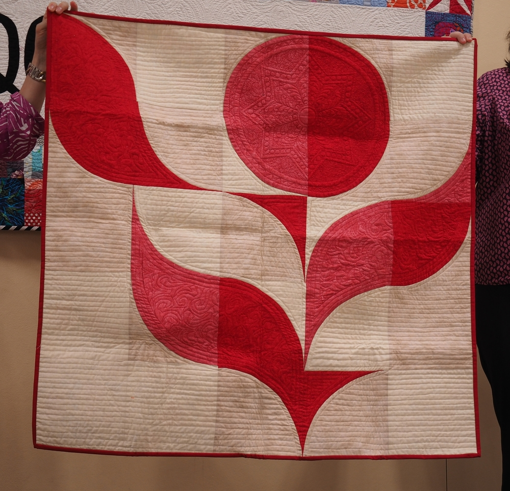 Michel McDonald  Portland Rose  Quilted by Kazumi