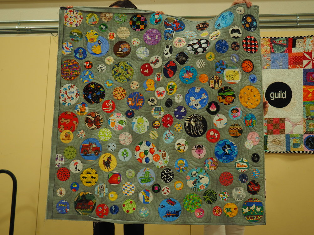 Megan Woolery  @megaroon477  - I Spy a Circle  Quilted by Susan Boutwell