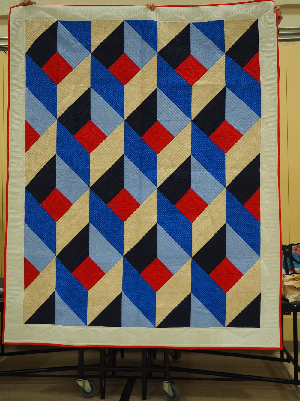 Michel McDowell - Conformity  Quilted by Kazumi Peterson